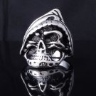 316l Stainless Steel Skull Ghost Chopper Rider Biker Ring US SZ 8 -13