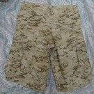 NEW BROWN CAMO SAHARA MOLECULE CARGO TOUGH 100% COTTON SHORTS sz L