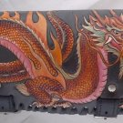Carved DRAGON Motorcycle Calf  Front Fork Tool Bag