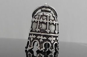 AMERICAN MOTORCYCLE GOTHIC CROSS CROWN GUARDIAN LUCK PEWTER BIKER BELL
