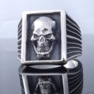 925 STERLING SILVER SKULL BIKER KING US SZ 7 TO 15