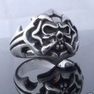 .925 STERLING SILVER CLAW SKULL CHOPPER BIKER RING sz 6 to 15