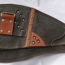 UNISEX UNIQUE CHOPPER LEATHER MONEY TRAVEL SHOULDER BAG adjustable strap