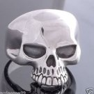 925 STERLING SILVER KEITH RICHARD SKULL BIKER MEN´S RING US sz 10.5