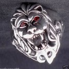925 STERLING SILVER LION GEMSTONE EYE CHOPPER RING US sz 6 to 15
