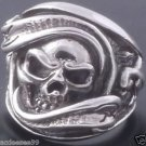 SOLID 925 STERLING SILVER SKULL BIKER CHOPPER RING US sz 7 to 15