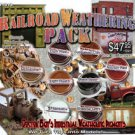 8-Color Railroad Weathering Pigment Set & How-To-Booklet PLASTIC.METAL.WOOD