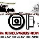 "NBW 2-1/2"" NUT w/4-1/2"" FLAT STEEL WASHER (140nbws) Grandt Line HOn30/HOn3/1:87"