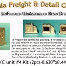 Roof Top A/C UNIT #4 KIT (2pcs) N/Nn3/1:160-Scale CALIFORNIA FREIGHT & DETAILS