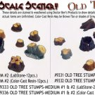 OLD TREE STUMPS- LARGE #1 DOCTOR BEN'S SCALE SCENERY-Gypsum-12pc 1/48-1/32-1/64