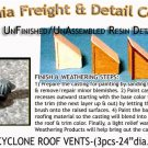 INDUSTRIAL CYCLONE ROOF VENTS-(3pcs) N/Nn3/1:160-Scale CAL FREIGHT & DETAIL CO