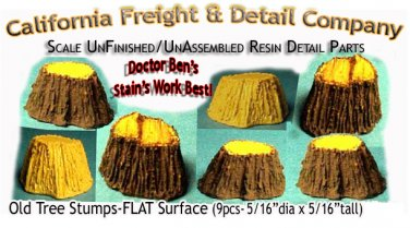 Old Tree Stumps-FLAT Surface (9pcs) N/Nn3/1:160 CAL FREIGHT DETAILS CO
