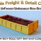20' LOW BOY ROLL-OFF BIN w/LOAD N/Nn3/1:160-Scale CALIFORNIA FREIGHT & DETAILS