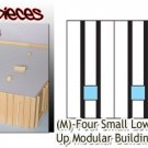 Tilt-Up Walls (M)-Four Small Lower Windows-(2pcs) - 20'x40' SMM-N/Nn3