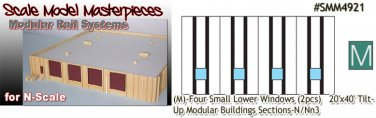 Tilt-Up Walls (M)-Four Small Lower Windows-(2pcs) - 20'x40' SMM-N/Nn3
