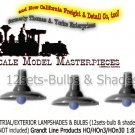 INDUSTRIAL/EXTERIOR LAMPSHADES & BULBS (12Sets) Grandt Line HOn3/HOn30
