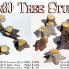 OLD TREE STUMPS- LARGE #2 (Gypsum-12pcs) Doctor Ben's SCALE 1/48-1/32-1/64 ON30