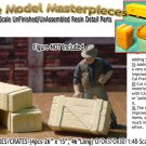 RUSTIC WOODEN BOXES/CRATES-(4pcs) Scale Model Masterpieces O/On3/On30/1:48 *NEW*