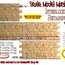 "INTERLOCKING STONE RETAINING WALL ""B-A-B"" Scale Model Masterpieces Sn3/On3/1;48"