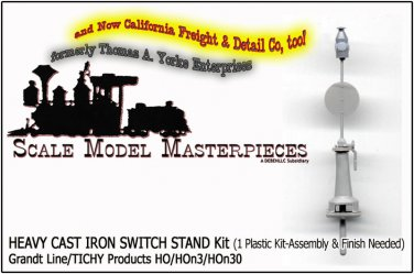 HEAVY CAST IRON SWITCH STAND Kit (1 Kit-UnAssembled)-Grandt Line NEW 1;87/HO/HOn