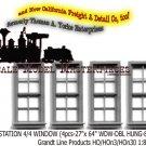 RGS STATION 4/4 Window 4pcs Grandt Line/Scale Model Masterpieces HOn3/HOn30