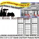 INDUSTRIAL/ENGINE HOUSE/ROUNDHOUSE 27-PANE (8pcs) Grandt Line/TICHY HOn3/HOn30
