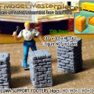 BRICK PILLAR/COLUMN SUPPORT FOOTERS (4pcs) Scale Model Masterpieces/HOn3/HOn30