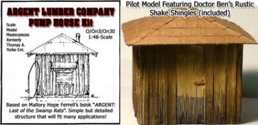 ARGENT LUMBER Co PUMP HOUSE KIT YORKE/Scale Model Masterpieces O/On3/On30 1:48