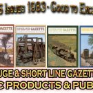 VOL 9, ISSUE1-6 1983 NARROW GAUGE & SHORT LINE GAZETTE MAGAZINE COMPLETE SET