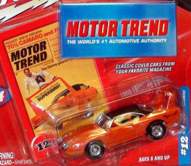 1970 PLYMOUTH SUPERBIRD MOTOR TREND MAGAZINE JOHNNY LIGHTNING 1:64/SN3