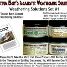 4-JAR WEATHERING SOLUTION SET #1 w/How-To Booklet-Doctor Ben's RTU HO/HOn3/1;87