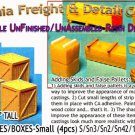 WOODEN CRATES/BOXES-Small (4pcs) Scale Model Masterpieces/Yorke S/Sn3/Sn2/1:64