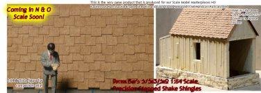 PRECISION STEPPED SHAKE SHINGLES Doctor Ben's Peel-n-Stik O/On3/On2/On30 1:48