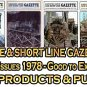 VOL 4, ISSUE 1-6 1978 NARROW GAUGE & SHORT LINE GAZETTE MAGAZINE COMPLETE SET