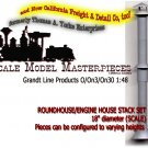 ROUNDHOUSE/ENGINE HOUSE STACK SET GRANDT LINE O/On3/On30/1:48-Scale *NEW*