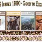 VOL 6, ISSUE1-6 1980 NARROW GAUGE & SHORT LINE GAZETTE MAGAZINE COMPLETE SET