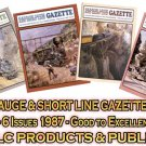 VOL 13, ISSUE1-6 1987 NARROW GAUGE & SHORT LINE GAZETTE MAGAZINE COMPLETE SET