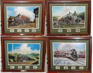 Postal Commemorative Society Set Jim Deneen Collectable Railroad Stamps & Prints