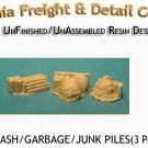 TRASH/GARBAGE/JUNK PILES (3pcs) N/Nn3/1:160-Scale CALIFORNIA FREIGHT