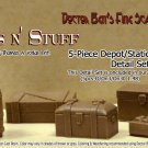 5-Piece Depot/Station Platform Details-Scale Model Masterpieces/Yorke On3/On30/1