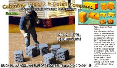BRICK PILLAR/COLUMN SUPPORT FOOTERS (6pcs) SMM/YORKE O/On3/On30/1:48 *NEW*