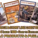 VOL 12, ISSUE1-6 1986 NARROW GAUGE & SHORT LINE GAZETTE MAGAZINE COMPLETE SET