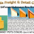 BRICK CHIMNEY POTS/STACKS (2pcs) N/Nn3/1:160-Scale CALIFORNIA FREIGHT