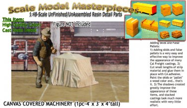 CANVAS COVERED MACHINERY/FLATCAR LD (1pc) Scale Model Masterpieces/YORKE On3/On3