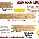"INTERLOCKING STONE FOUNDATION  WALL ""A"" Scale Model Masterpieces (LabStone-1;35)"