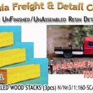 MILLED WOOD STACKS (3pcs) N/Nn3/1:160-Scale CAL FREIGHT & DETAILS Co