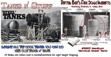 VERTICAL ROUND STEEL TANK-MEDIUM Scale Model Masterpieces/Yorke  HO/Sn3/Sn2/On30