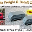 1969 FORD ECONOLINE VAN KIT (2 Kits) CAL FREIGHT & DETAIL N/Nn3-Scale