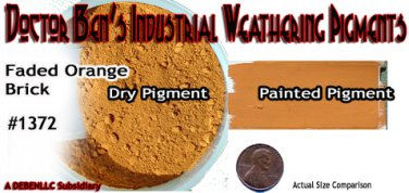 Faded Orange Brick Industrial Weathering Pigment-Plastic/Metal/Resin 2oz *NEW*
