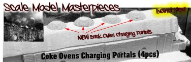 COKE OVEN Charging Portals (4pcs) Scale Model Masterpieces/YORKE NEW 1;87/HOn3